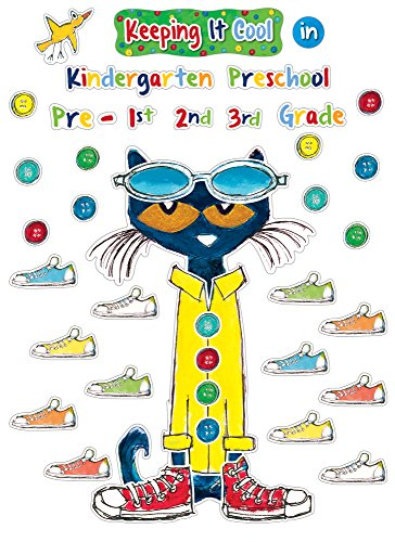 Bulletin School Board Set - Edupress Pete the Cat Keeping it Cool In Bulletin Board Set (EP63922)