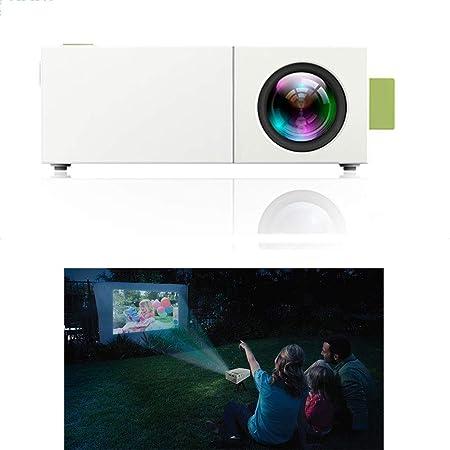 LMtt Proyector casero, proyector Video de HD, YG310 LCD 600LM 320 x 240 1080P Mini Cine casero de la película Portable para los Videojuegos TV Home Cinema,Withbatteryversion: Amazon.es: Hogar