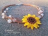 Sunflower necklace Statement Boho jewelry