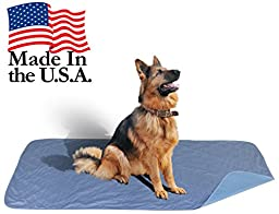 36 x 72 - XXL Big Size Premium Stain Resistant Quick Absorbent Waterproof Reusable / Quilted Washable Large Dog / Puppy Training Travel Pee Pads