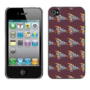 PatternViking PC Polycarbonate Aluminium Back Case Cover Apple iPhone 4 / 4S ( cute leaves )