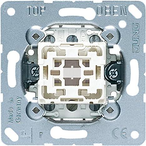 JUNG 533-2U Aluminio interruptor de luz - Interruptores de luz (Botones, Aluminio, 250 V, 1 pieza(s)): Amazon.es: Bricolaje y herramientas