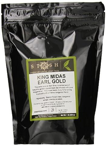 Stash Tea Loose Leaf Tea, King Midas Earl Gold Black, 1 Pound - Victorian Earl Grey Tea