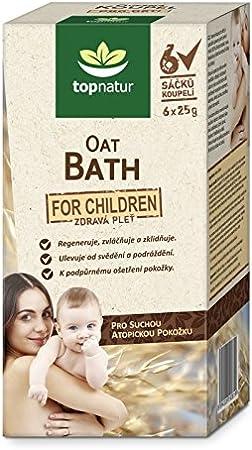 Baño de avena con aceite de semilla de cáñamo beige Para niños.