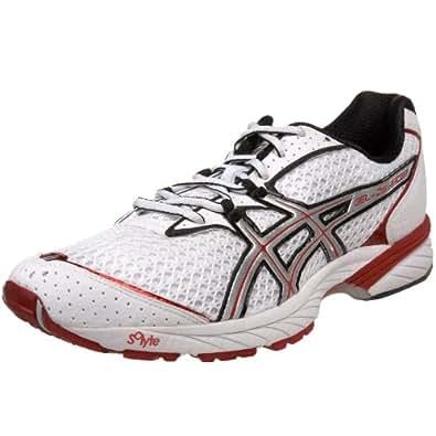 ASICS GEL-DS Racer 8 Running Shoe,White/Lightning/Red,15 M US