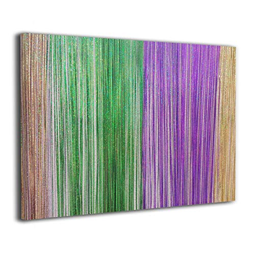 Hd8yehao Colorful Mardi Gras Vintage Canvas Wall Art Prints