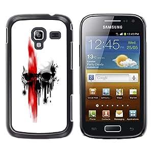 LECELL--Funda protectora / Cubierta / Piel For Samsung Galaxy Ace 2 -- craneo Rojo --