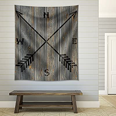 Vintage Compass Symbol Placed on a Wooden Background, That You Will Love, Stunning Expert Craftsmanship