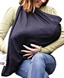 Mama Designs Mamascarf - Nursing and Breastfeeding Scarf - Lightweight 100% Cotton, Black in Colour