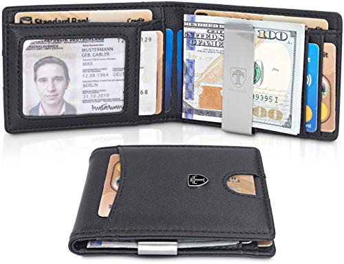 96bed272b1af TRAVANDO Slim Wallet with Money Clip SEATTLE RFID Blocking Card Mini ...