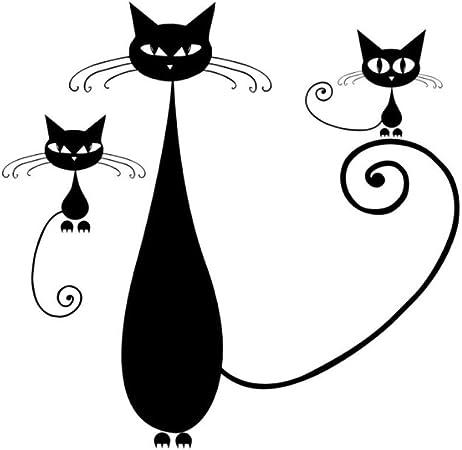Extraíble Gato Madre Y Gatitos Pegatinas De Pared Wallpaper Diy ...