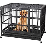 "Best Heavy Duty Dog Crates - JY QAQA PET 48"" Heavy Duty Dog Cage–Strong Review"