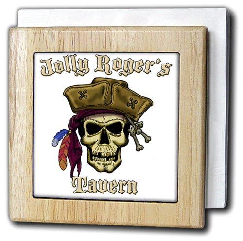 ジャックのArts Pirates – Pirate Skull with Jolly Roger S Tavern – タイルナプキンホルダー 6 inch tile napkin holder nh_22844_1 6 inch tile napkin holder  B0059YDCRK