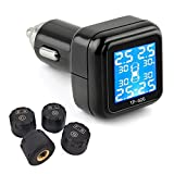 B-Qtech Tire Pressure Mointoring System Wireless TPMS with 4 External Sensors Cigarette Lighter Plug 0~72PSI