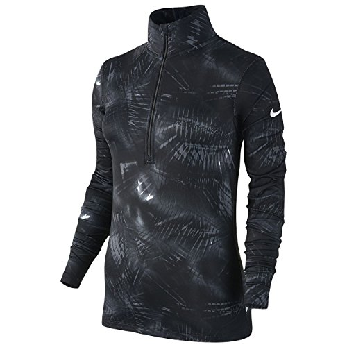 Nike Women's Pro Warm 1/2 Zip Printed Training Top Black/Grey Sz Medium by NIKE