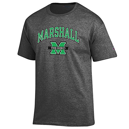 Marshall University - Elite Fan Shop Marshall Thundering Herd Tshirt Arch Charcoal - L
