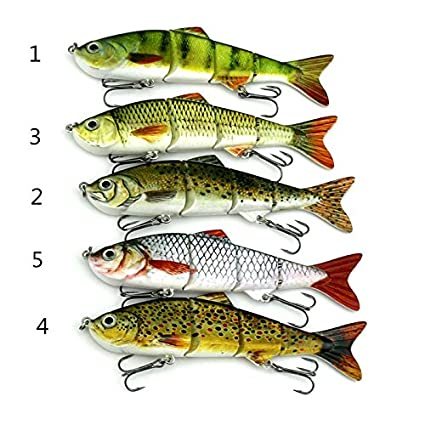 New 7-Jointed Minnow Fishing Lures Crank Bait Hooks Bass Tackle Sinking Popper Crankbaits