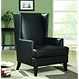 Coaster Traditional Black Accent Chair with Nailhead Trim