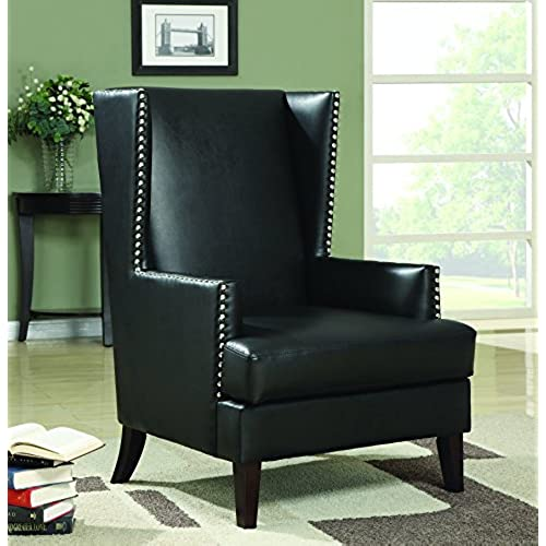 coaster home furnishings traditional accent chair black