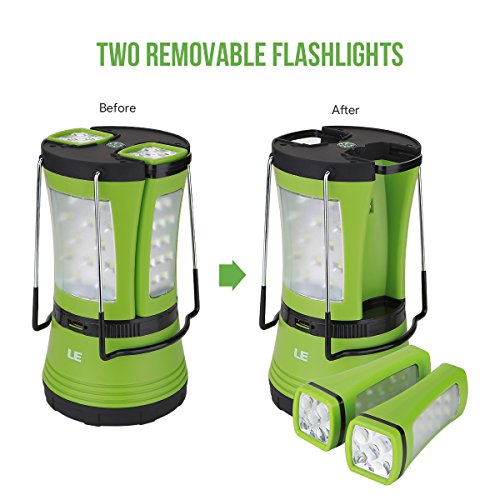 LE-600lm-Rechargeable-LED-Camping-Lantern-Detachable-Portable-Flashlight-Torch-Water-Resistant-Tent-Light-with-USB-Cable-Car-Charger-for-Camping-Hiking-Outdoor-Emergency
