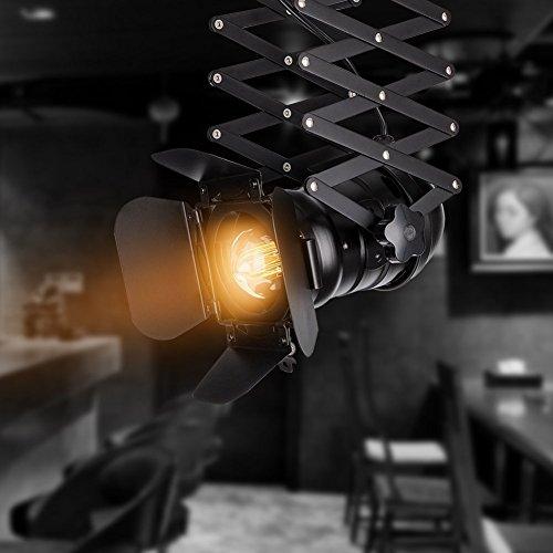 EuSolis Telescopic Loft Industrial Iron Spotlight Vintage Ceiling Lights LED Shop Light Track Light Nordic Pendant Light Wall Lights Spotlight for Bar Cafe Shop by EuSolis (Image #4)
