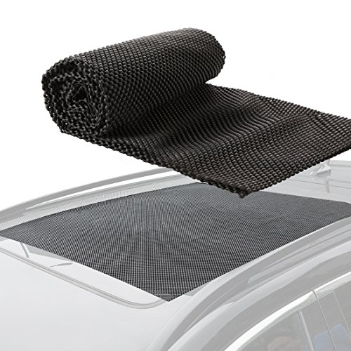 "CZC AUTO Car Roof Cargo Carrier Protective Mat, Non-Slip Roof Rack Pad Work with Roof Rack Crossbar Basket Roof Box Bag Luggage Carrier for Truck SUV Car Van Sedan (39""x36"")"