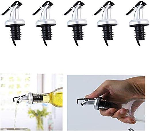 Bottle Pourer Spout Stopper Dispenser Liquor Flow Set Wine Olive Oil New