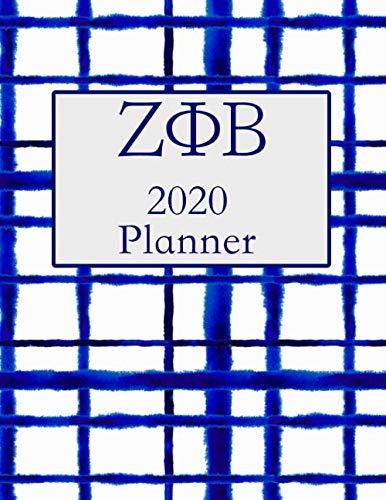 ΖΦΒ 2020 Planner: January 2020 to December 2020 Weekly Organizer Logbook