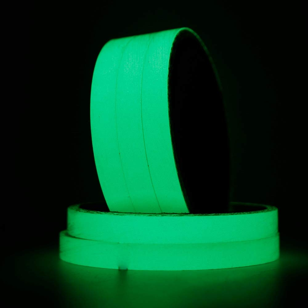 VHLL 1Pcs Glow in The Dark Tape Safety Self-Adhesive Strip Phosphorescent Luminous New