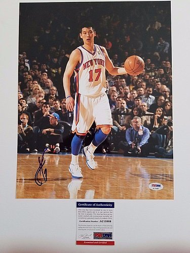 Jeremy Lin Autographed 11x14 Photo - PSA/DNA Certified New York Knicks Autographed Linsanity