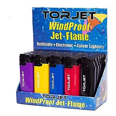 25x Original Torjet briquets coupe-vent très puissant Jet de flamme Full Box