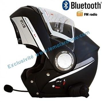 Amazonfr Casque Givi X08 Bluetooth Noir Mat Avec Radio Fm Rds