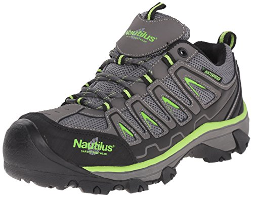 Nautilus 2208 Light Weight Low Waterproof Safety Toe EH Hiking Shoe, Grey, 13 W US ()