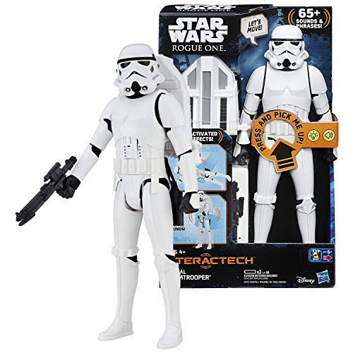 Rogue One Star Wars Year 2016 Series 12 Inch Tall Electronic Figure - Interactech IMPERIAL STORMTROOPER with Lights, 65+ Sounds and Phrases Plus Blaster and Jet ()