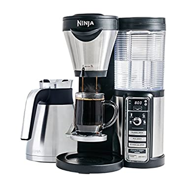 Ninja Coffee Bar Brewer, Thermal Carafe with Ninja Hot and Cold 18 oz. Insulated Tumbler and Recipe Book (CF085Z)