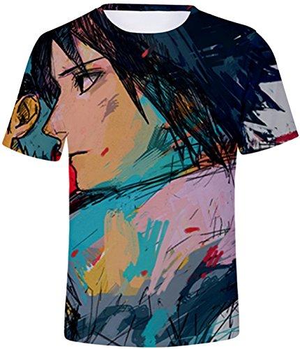 Naruto Unisexe Uzumaki Ninjia Shirt Mode D'été T Top Hatake Hokage Kakashi shirt Seraphy 452 Syaringan Uchiha Bt8dwqtn
