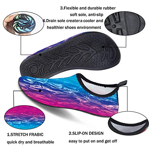 Yoga Style Barefoot Swim Swimming HOYE Anti ad008 Slip Aqua OYE Shoes Shoes Dancing Dry Beach Cycling for Kayak Surfing Protective Quick Volleyball and Men and Women for Water Sock Comfy BnZnfa