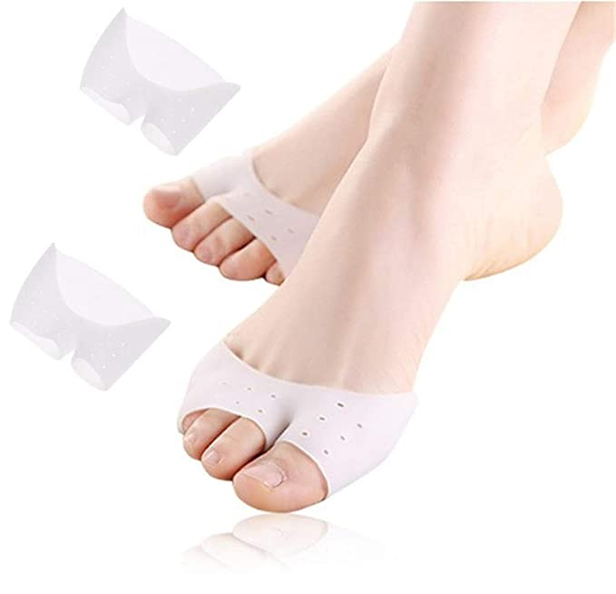 2pcs Silicone Gel Foot Care Tool toe Separator & Little