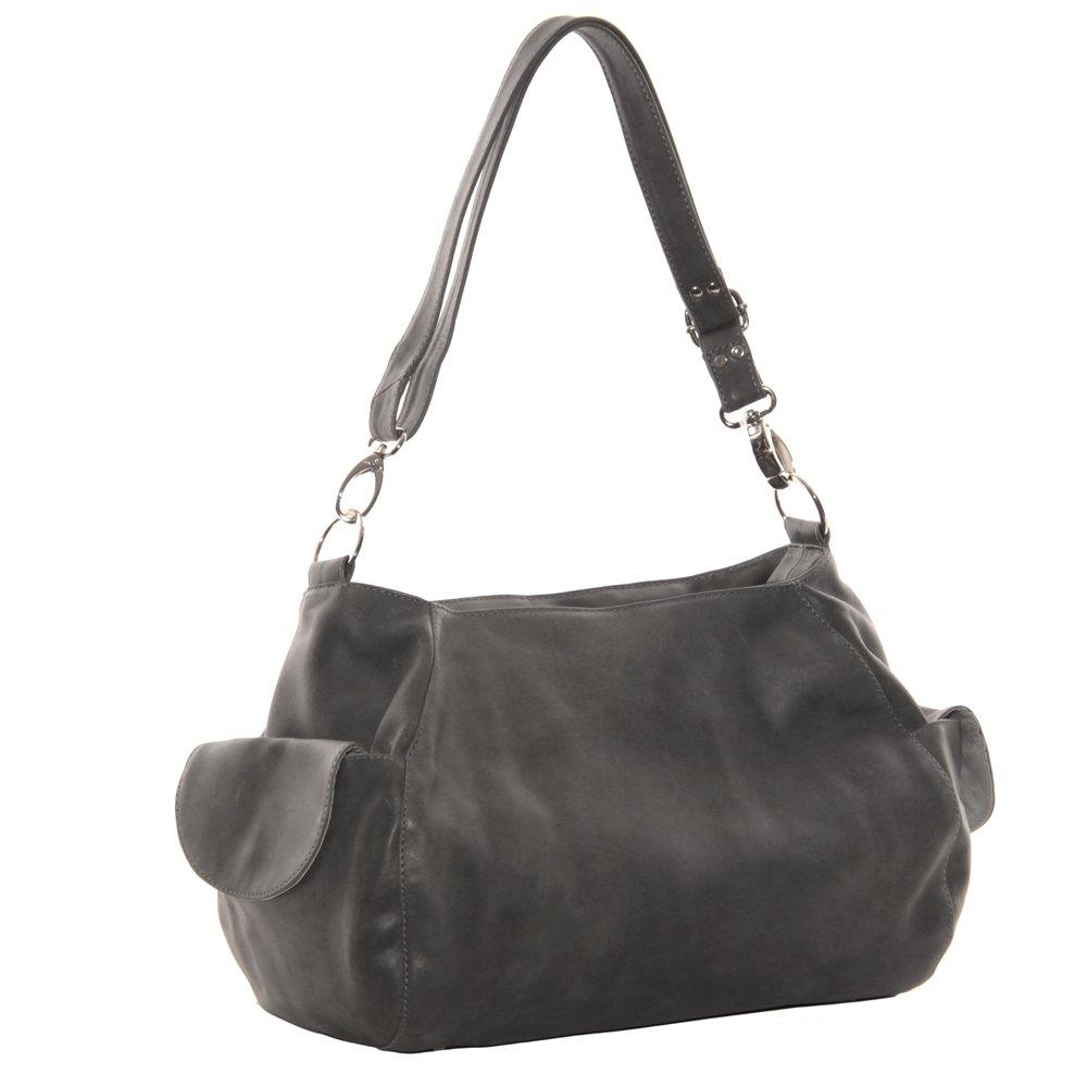 Amazon.com  Piel Leather Top-Zip Shoulder Bag Cross Body Hobo ... 72c6f6c6ebfd1
