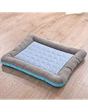 Summer Breathable Dog Cooling Mat Eco-Friendly Washable for Home And Travel - Prevent Overheating And Dehydration for Kennels, Crates, Chair, Floor,Pink,55 * 45cm