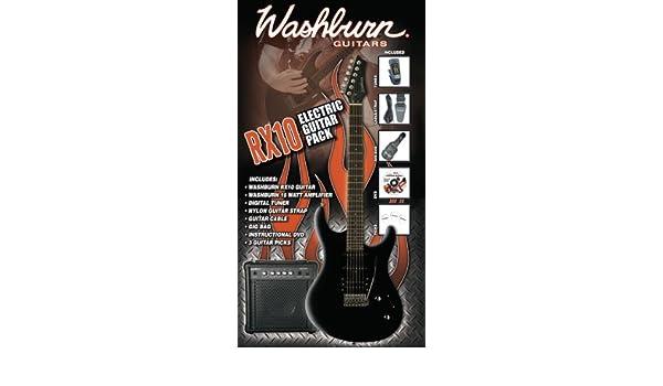 Washburn Rx-10 B Pack - Washburn Rx-10 B - Pack De Guitarra Electrica, 15 W: Amazon.es: Instrumentos musicales