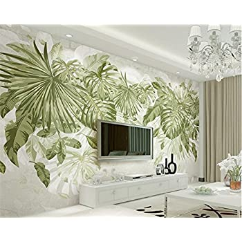 Image of Ai Ya-bihua 3D Wallpaper Fresh Green Grass Foliage Plant Jungle Wind Background Wall Living Room Bedroom Wallpaper for Walls 3 d