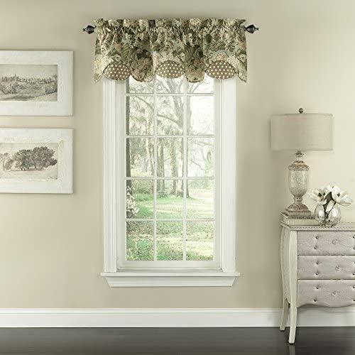 Waverly Garden Glory 16 x 60 Short Valance Small Window Curtains Bathroom, Living Room and Kitchens, 16 x60 , Mist