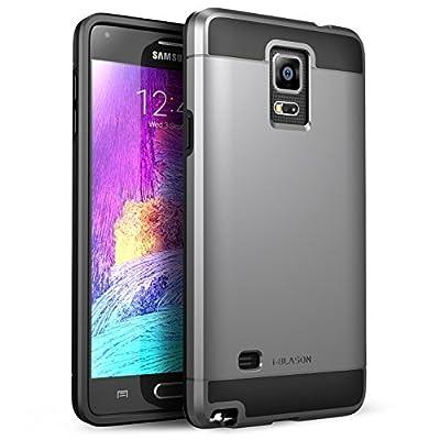 Carcasa Samsung Galaxy Note 4 i-Blason Unity Series - Funda hibrida resistente ultrafina con suave interior y robusta cobertura exterior, Gun Metal