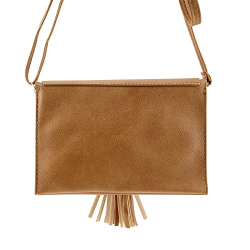 brown Bag Shoulder B Leather Phone Bausweety PU woman's Small Cell Crossbody Portable Bags qwHA7xZR