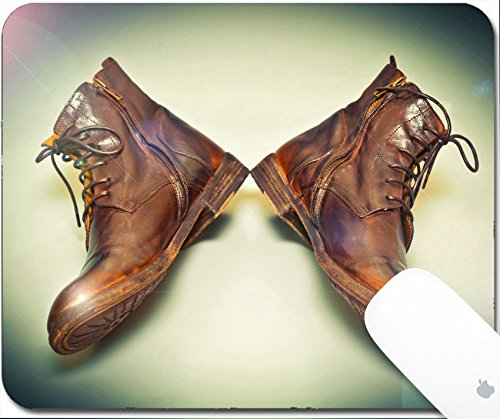 Luxlady Gaming Mousepad 9.25in X 7.25in IMAGE: 34806470 Fashion leather shoes brown vintage style