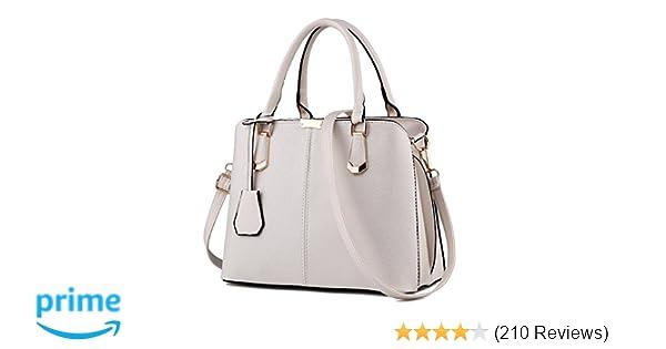 d2ed789523c Purses and Handbags for Women Fashion Messenger Bag Ladies PU Leather Top  Handle Satchel Shoulder Tote Bags