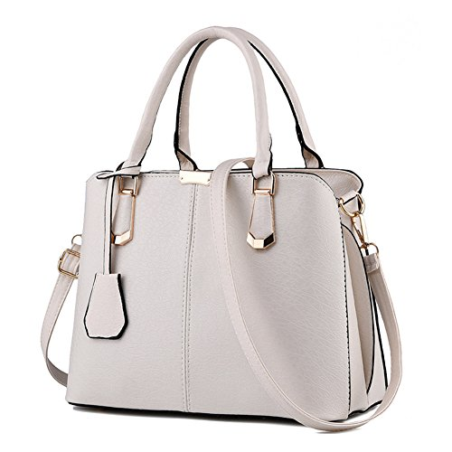 Pahajim women handbags PU leather top handle satchel tote purse shoulder bags - Womens Handbag Antique