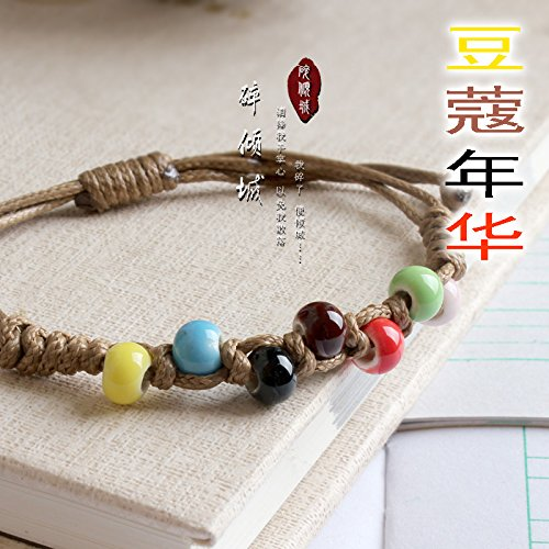 - Hand-beaded ceramic Yiwu small jewelry boutique Sen supply line bracelet broken Allure amom