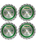 Oshlun SBW-045018 - 4-1/2-Inch 18 Tooth ATB Fast Cutting and Trimming Saw Blade with 3/8-Inch Arbor - 4 Pack (Circular Saw)